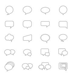 Speech Bubble Icons Line Set vector image