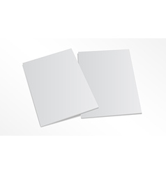 two blank magazine covers isolated on white vector image