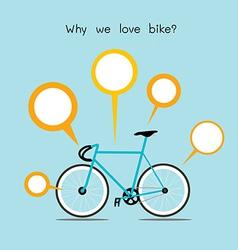 we love bike vector image vector image