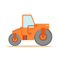 asphalt finisher road machine part of roadworks vector image vector image