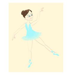 beautiful cute ballerina vector image vector image