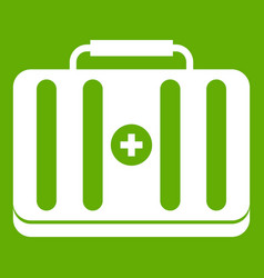 first aid kit icon green vector image