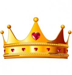 kings crown vector image vector image