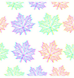 maple leaves pattern in cmyk colors vector image vector image