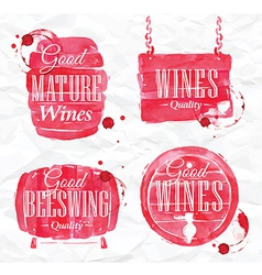 Watercolor Wine Cask vector image