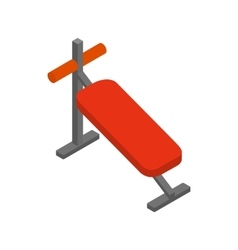 Athletic bench for training icon vector image vector image