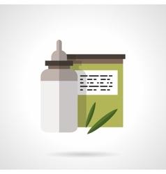 Baby nutrition flat color design icon vector image vector image
