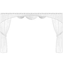 Curtain isolated contour vector