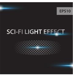 glow light effect stars bursts vector image vector image