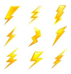 lightning bolts vector image vector image