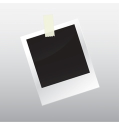 Photo frame with scotch tape vector image