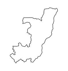 republic of the congo map of black contour curves vector image