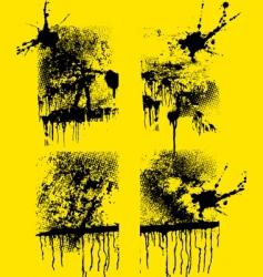 set of grunge creative textures vector image