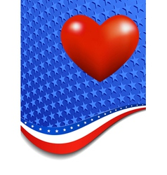 Stars and Stripes Portrait Heart vector image