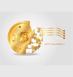 bitcoin coin design vector image vector image