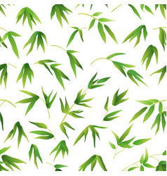 seamless background bamboo leaves vector image vector image