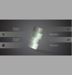 3d infographic template with cylinder vector