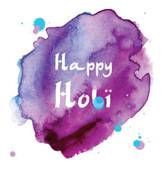 Abstract holiday background happy holi colors vector