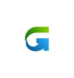 Arrow letter g logo icon design vector