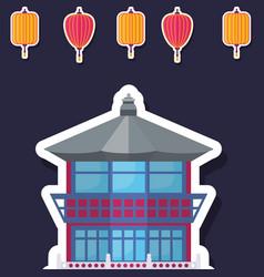 asia architecture design vector image