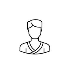 avatar taekwondo outline icon signs and symbols vector image