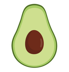 avocado fresh vegetable icon vector image