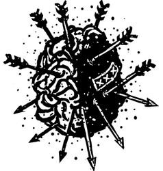 brainn dead vector image