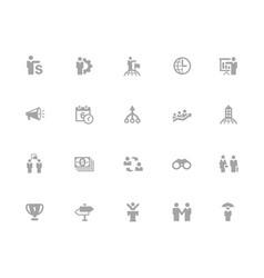 business concepts icons set 32 pixels icons vector image