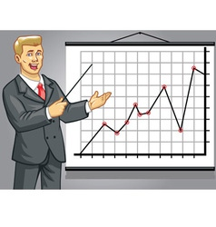 business man on presentation vector image