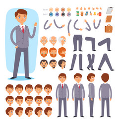 businessman constructor creation male vector image