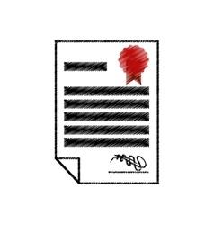 Certificate document award icon design vector