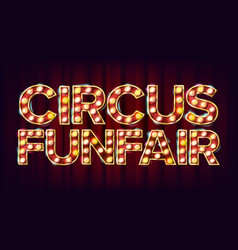 Circus funfair banner sign for party vector