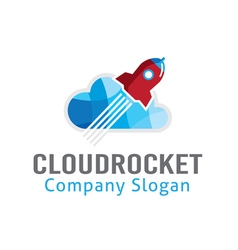 Cloud Rocket Design vector image