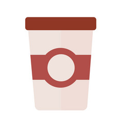 coffee plastic container drink flat style icon vector image
