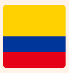 colombia square flag button social media vector image