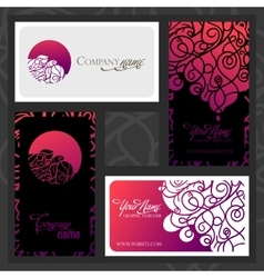 Colorful decorative design of business card with vector image