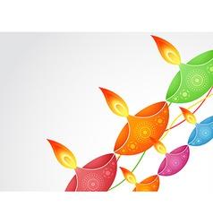 Colorful diwali diya vector