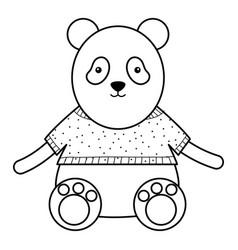 Cute bear panda childish character vector