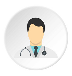 Doctor icon circle vector