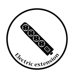 Electric extension icon vector image