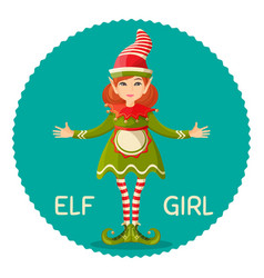 elf girl human-shaped supernatural female being in vector image