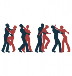 female self defense vector image