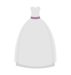Female wedding dress icon vector