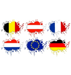 Flags of Europe as spots vector