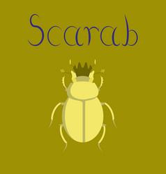 flat on background bug scarab vector image