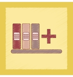 flat shading style icon shelf folder vector image