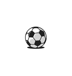 Football ball logo traditional design black and vector