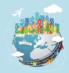 Global transportation vector image