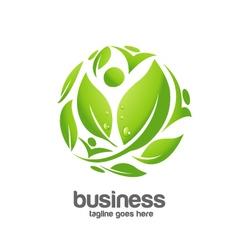 Green circle logo concept vector