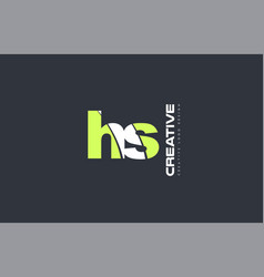 Green letter hs h s combination logo icon company vector
